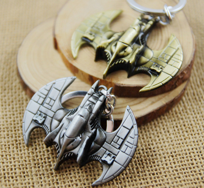 ZIDOM 2016 new arrived Marvel movies Batman three-dimensional keychain Exquisite Batmobile keyring image