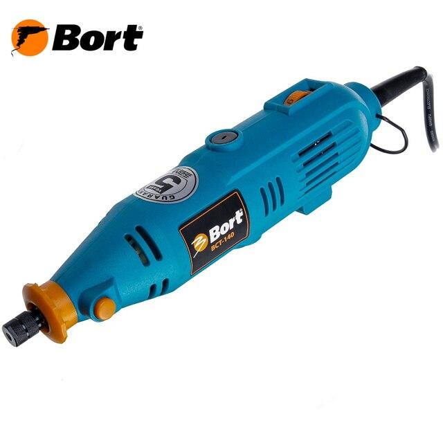 Гравер электрический Bort BCT-140N (Мощность 135 Вт, регулировка скорости 8000-32000 об/мин, удобный кейс)