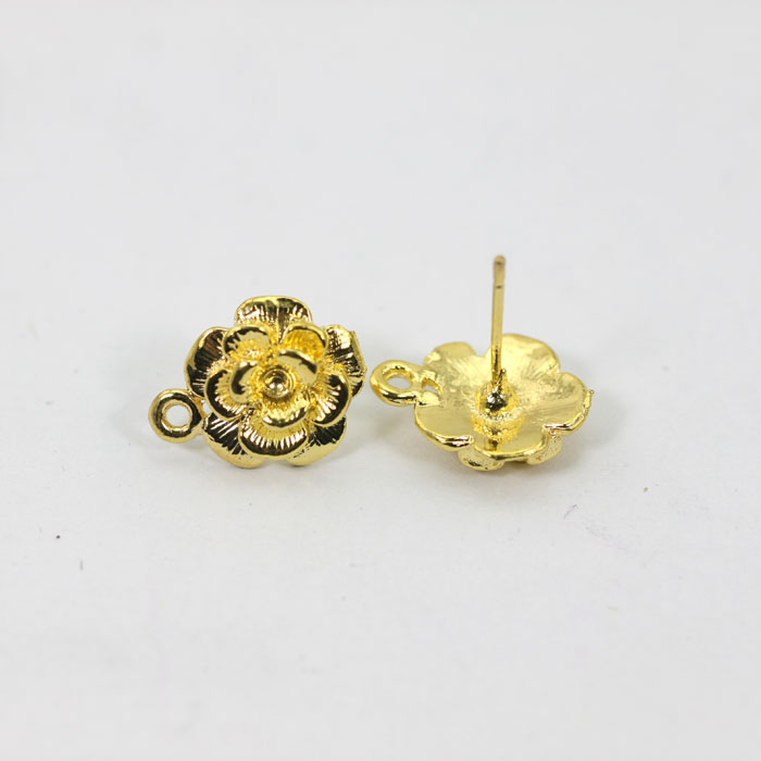 Cute New Earrings Stud Whole 50 Pairs Lot Post Flower Base Posts Earring Findings For Diy Jewelry Et003 In Components From
