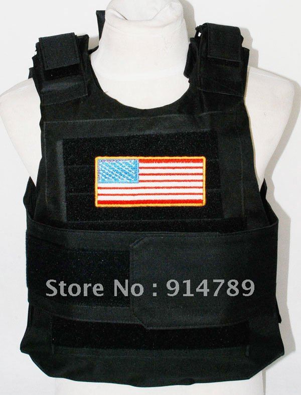 TACTICAL AIRSOFT PAINTBALL BODY ARMOR VEST BK BLACK -3870