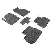 Резиновые коврики для Land Rover Discovery Sport (2014-2018) с высокими бортиками (Seintex 86737)