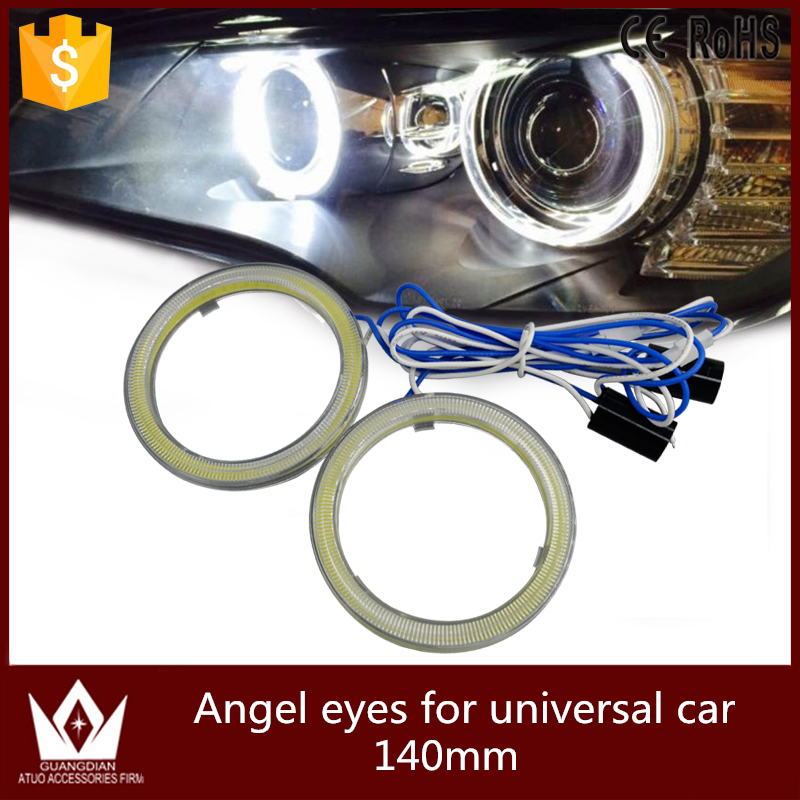 Guang Dian car led light Angel Eyes Halo Ring COB Fit For Car Motorcycle LED full circle Waterproof strong Bright 140mm car styling 80mm for 2 5inch projector lens led light guide angel eyes fiber optic angel eyes drl halo ring super bright