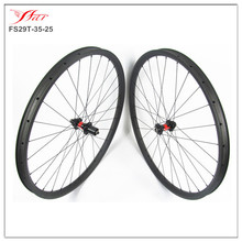 DT 240s central lock ,QR axle & Sapim cx-ray spokes, 29er carbon clincher mountain bike wheelset 35mm width for AM use , 28H