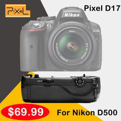 Pixel Vertax D17 Battery Grip For Nikon D500 DSLR Camera Vs Meike MK-DR500 MK-D500 As MB-D17
