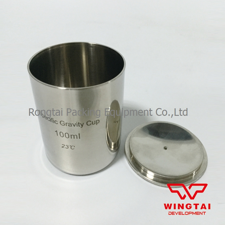 Stainless Steel Material 100cc/ml  Specific Gravity Cup/Density cup For Paint lab testing stainless steel density cup 50ml capacity specific gravity cup