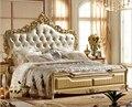 Diseño de lujo classic muebles de dormitorio de madera cama modelos