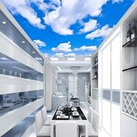 blue-sky-white-clouds-modern-style-plain-colour-moisture-ceiling-wallpaper-roll-restaurant-living-room-wall-papel-de-parede
