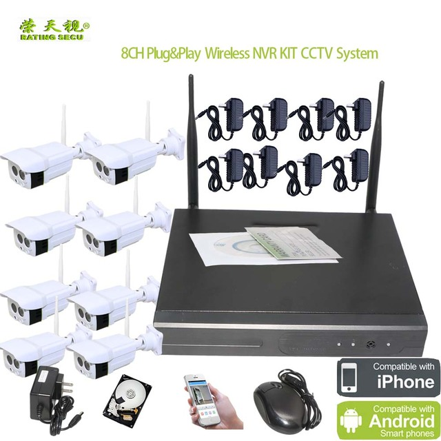 Ratingsecu Plug And Play Wifi Alarm System Home Security Camera Nvr