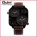 HP1169 Brand Oulm Buckle Leather Fast Shipping Men Watch Quartz Watch New With Tags Wristwatch For Men High Quality
