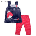 Toddler Girl Clothing Set Summer Kids Clothes Suit Children Clothes Sets Girls Sleeveless Cartoon Top + Pants Outfits CF108