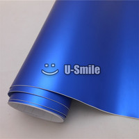 Premium Matte Satin Chrome Blue Vinyl Film Car Wrap Bubble Free Car Wrapping Film