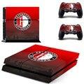 Equipo de fútbol feyenoord ps4 piel de la etiqueta engomada para sony ps4 playstation 4 consolas y 2 controladores pegatinas