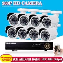 2500TVL 1.3MP 8-КАНАЛЬНЫЙ AHD DVR HD CCTV Камеры Безопасности 8 шт. открытый пуля День/Ночь ИК Наблюдения Camaras Комплект camaras де seguridad