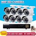 2500TVL 1.3MP AHD DVR 8CH HD CCTV Câmera de Segurança 8 pcs bala ao ar livre Dia/Noite IR Camaras de Vigilância Kit camaras de seguridad