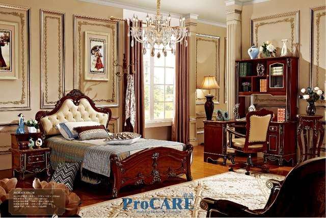 Online Shop luxury solid rose wood children kids Bedroom furniture ...