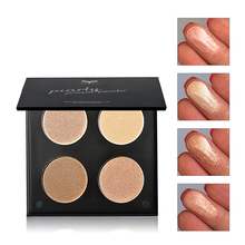 4 Colors Women Shimmer/Matte Highlighter Bronzer Eyeshadow Pressed Powder