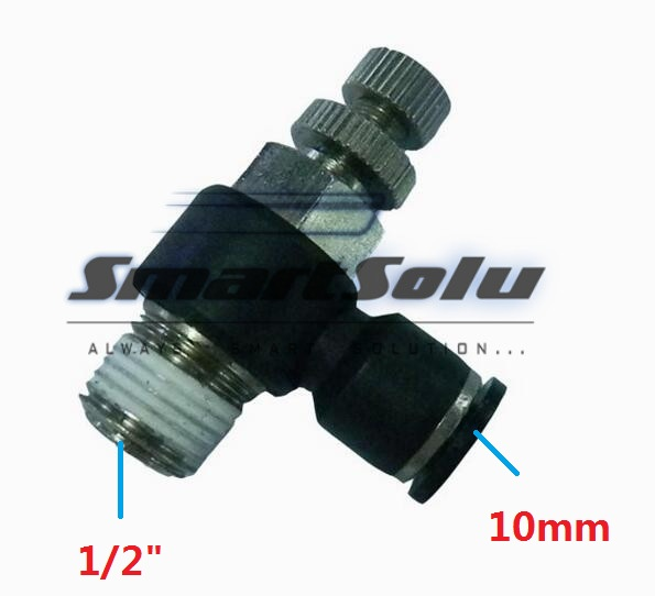 Free Shipping10pcs/lot SL10-04 Pneumatic Throttle Valve,Quick Push In 10MM Tube 1/2 Inch Air Fitting Flow Controller 5pcs lot sspmm stainless steel anticorrosion food grade quick connect air tube accessories bulkhead union fitting sanmin