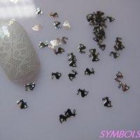 мс-161-1 бесплатная доставка металлического серебра х - рождество олень ногтей металл наклейка искусство украшения необычные аспекте