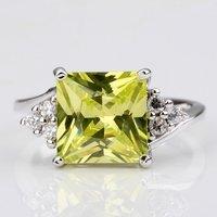 zhouyang r095 желтый квадратных кристалл серебряный colorring здоровье никель бесплатно австрийский хрусталь элемент