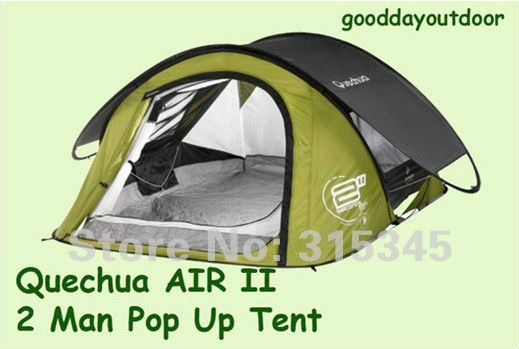 QUECHUA 2 Man C&ing Hiking Outdoor Pop Up 2  Quick Tent & QUECHUA 2 Man Camping Hiking Outdoor Pop Up 2