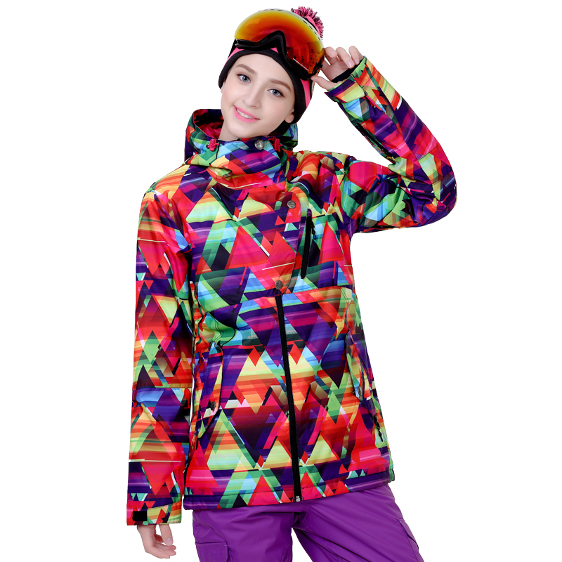 Prix pour Nouvelle marque femelle combinaison de ski placage double conseil ski vêtements coupe-vent imperméable chaud épais ski costumes femmes