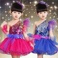 2016 das Crianças Criança Meninas vestuário performance de dança moderna jazz dança de lantejoulas Tutu Dancewear Desempenho Meninas Vestido de Ballet
