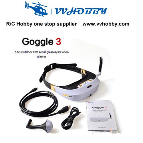 2016 new Walkera FPV Goggle 3 5.8G 32CH 360 degree 3D Video Glasses Goggles
