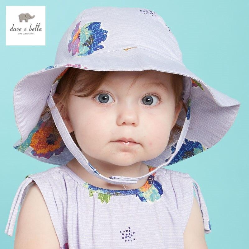 5fcb5f2a00944 DB3429 dave bella bebê verão meninas chapéus infantil tampas sunhat chapéu  de praia meninas do bebê floral caps senhora balde chapéu em Toucas e Bonés  de ...