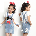 Children Clothing Sets Cotton Brand Girls Clothes Pullover T-Shirt + Denim Dress 2Pcs Kids Clothes For Girls Summer Baby Clothes