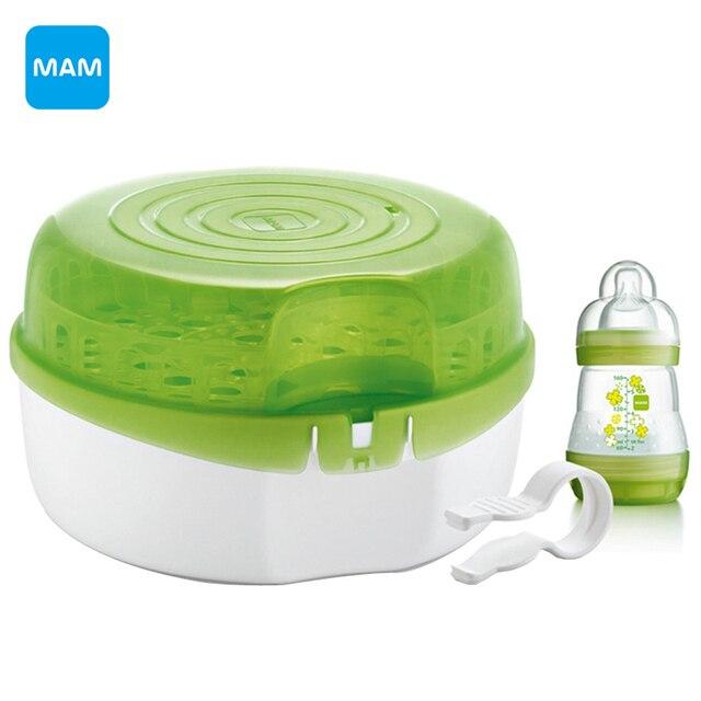 Mam Microwave Bottle Sterilizer Steam A Type Sterilization Pp Material Heating Milk Liquid Heaters Baby Supplies