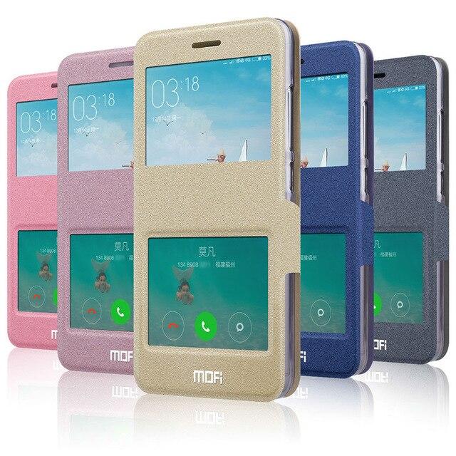 Redmi Note 3 Case Original Mofi Luxury PU Flip Leather Cover Case For Xiaomi Redmi Note 3 (5.5inch) Open Window Phone Bags MH1