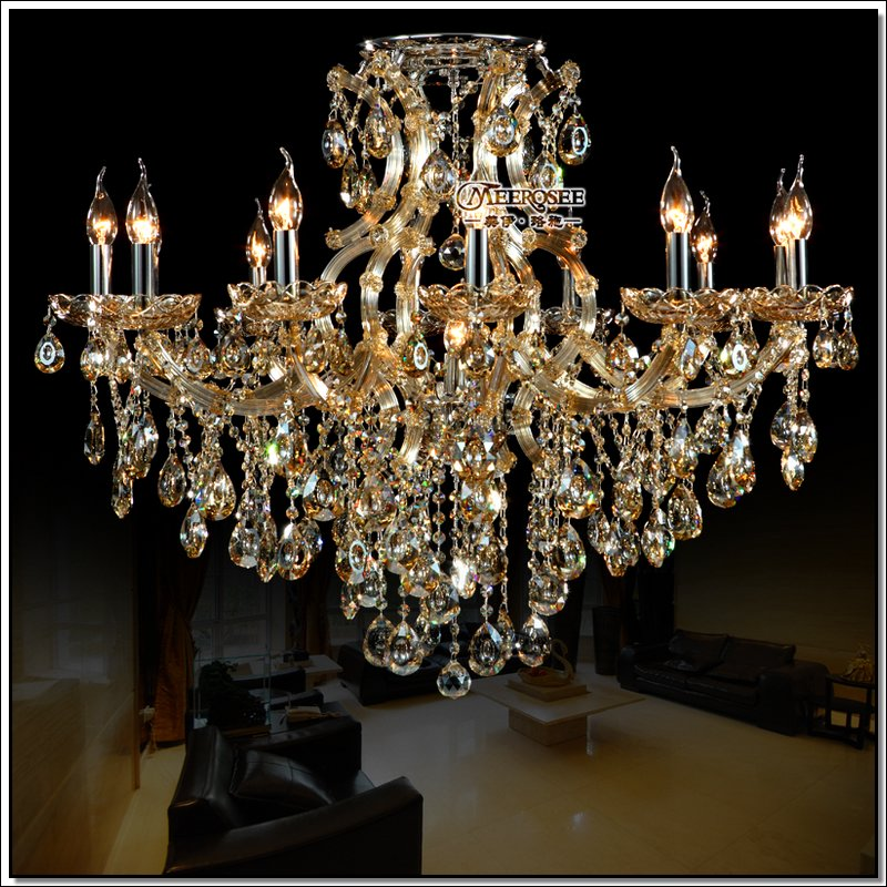 Best Ing Cognac Crystal Chandelier Light Large Glass Chandeliers For Kitchen Bedroom With 13 Lights In From
