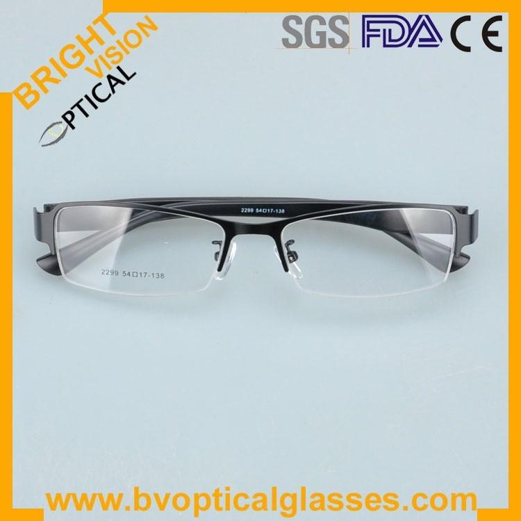 2299blackfold Factrory price half rim vintage optical frames eyewear glasses