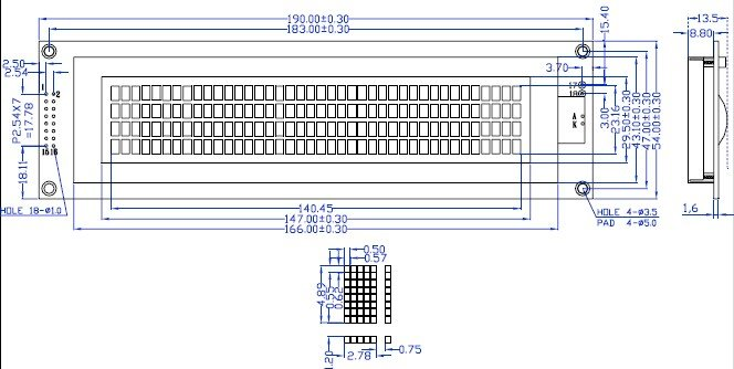 40x4 4004 символов ЖК-модуль синий/белой светодиодной подсветкой SPLC780D
