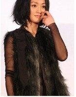 бесплатная доставка haoduoyi плечо как строки Walk черный меховой меховой гель стоит гель женская MOL