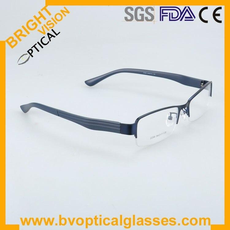 2299blueside Factrory price half rim vintage optical frames eyewear glasses