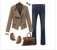 горячая распродажа осень - зима с длинным рукавом прохладно мода и пиджаки женщины шерсть зимние пальто бесплатная доставка