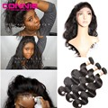 360 Lace Band Frontal Closure With Bundle Body Wave Lace Frontal With Baby Brazilian Virgin Human Hair Connie 360 Lace Frontal