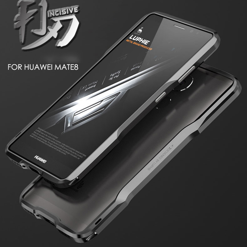 Mate 8 Luxury Brand Luphie Aluminum Metal Frame Bumper For Huawei Ascend Mate 8 Ultra Slim