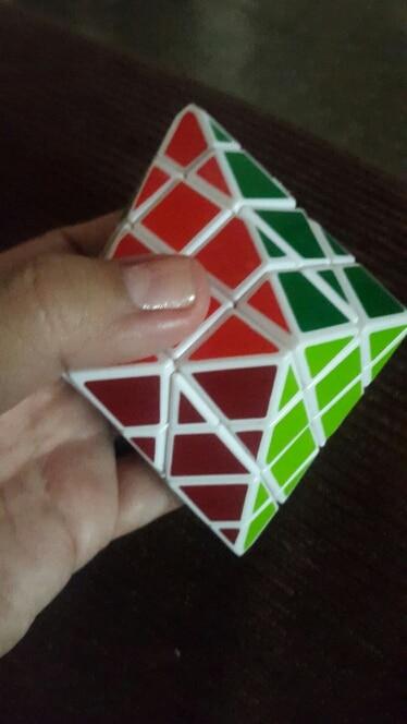 DianSheng Octagonal Pyramid Dipyramid 4x4 Shape Mode Cubo magic Puzzle Toys  for Kids Cubiks Juguetes Educativo