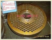 6mm die of KL200 series pellet machine, 6mm die for make wood pellet and feed pellet