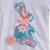 Boutique Remake Niñas Trajes Bordados Conejo Grande Top Floral Ruffle Pantalones Moda 2 Unids Niños Que Arropan Algodón E001