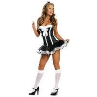 סיטונאי הלבשה תחתונה הלבשה תחתונה סקסית יפה נקבה חדרניות חצאית מיני תחרה קלאסית לוליטה maid תלבושת תחפושת סקסית