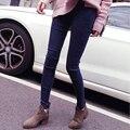 2016 Весна осень мода тощий материнства хлопок джинсы высокая талия регулируемая