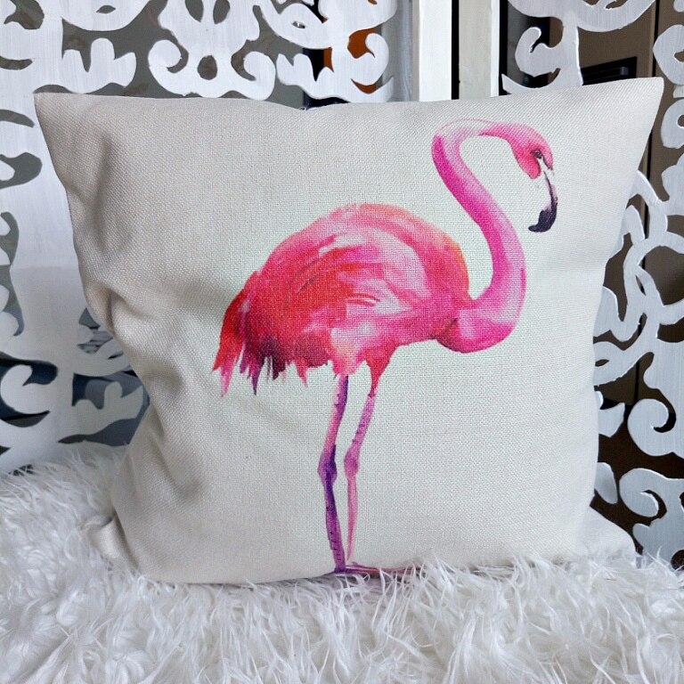 Наволочка с принтом «фламинго» с Алиэкспресс