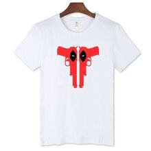 New Dead Pool Black White TShirt Men Deadpool Cotton T Shirt Men Funny in Street Wear Style 3xl Cotton Tees and Tops Gray XXS