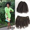 Venda quente do cabelo humano trama brasileira Afro Kinky Curly grampo na extensão do cabelo humano 7 pçs/set Remy cabelo tece clipe em virgem cabelo