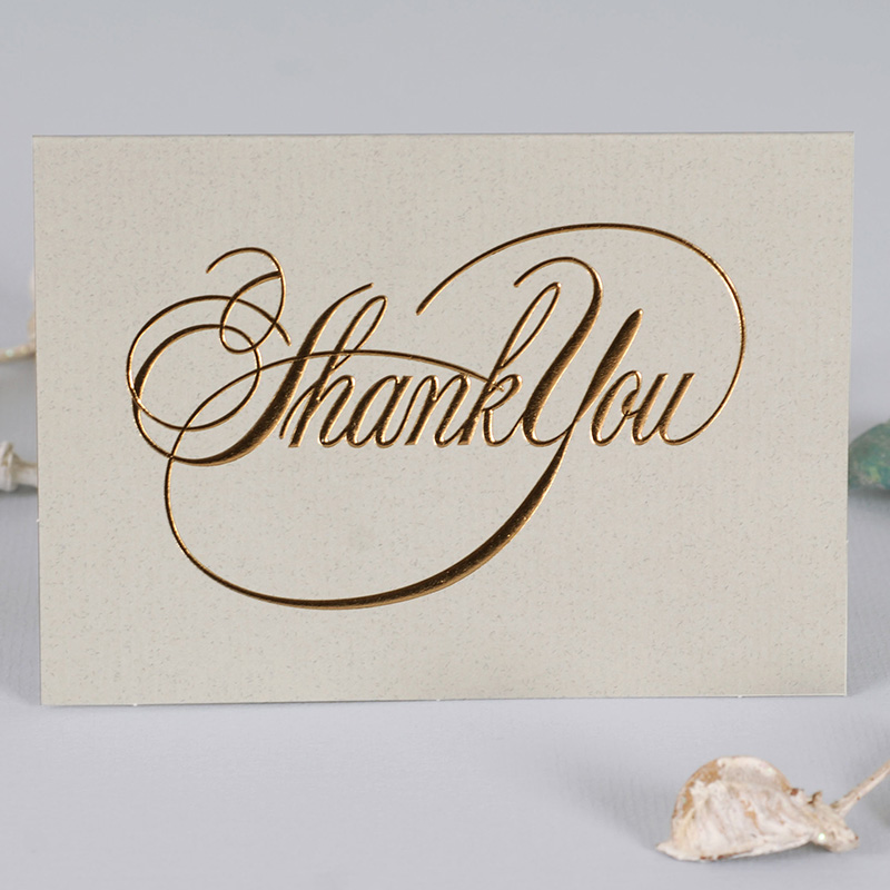 mini size 12set gold simple words thanks you Card leave message ...