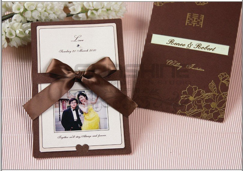 Customised Card Can Print Customer S Wedding Invitation Also Photo