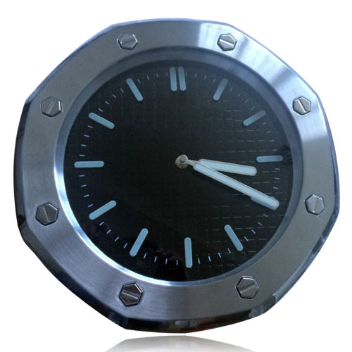 Amazing Home Decor Modern Wall Clock Silver Bezel Black Dial Wallclock Brand font b Watch b